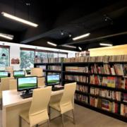 现代小型时尚书馆
