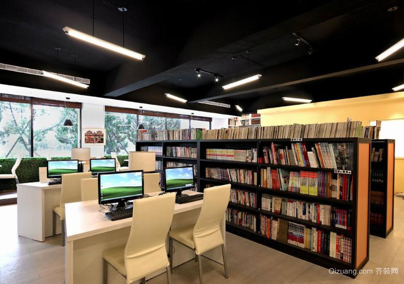 大型现代简约风格图书馆装修效果图