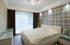 纯情白色简约风格卧室背景墙装修效果图大全