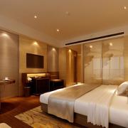 宾馆暖色调卧室