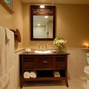 卫生间实木防水置物柜