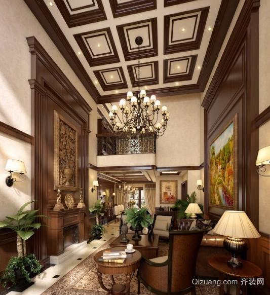 金色豪华客厅吊顶装修效果图鉴赏