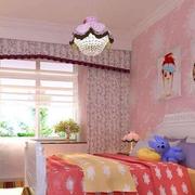 儿童房粉色壁纸欣赏