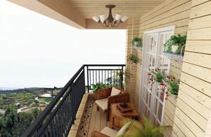 海洋般清新的地中海风格阳台装修效果图