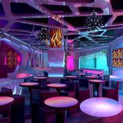 紫色浪漫的酒吧灯饰