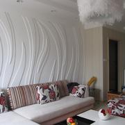 客厅白色个性背景墙
