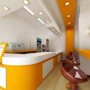 橙色靓丽的奶茶店