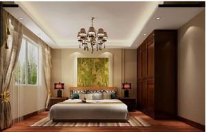 2015东南亚风格大户型飘窗装修效果图