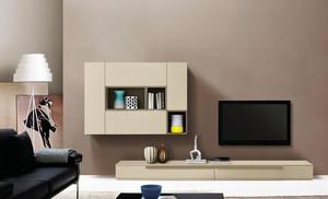 2015单身公寓流行的现代电视柜装修效果图
