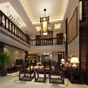 中式风格复式楼设计
