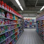 超市置物架展示