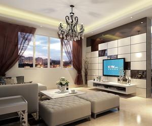 2015大中型家庭欧式电视背景墙装修效果图