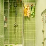 绿色清爽卫生间