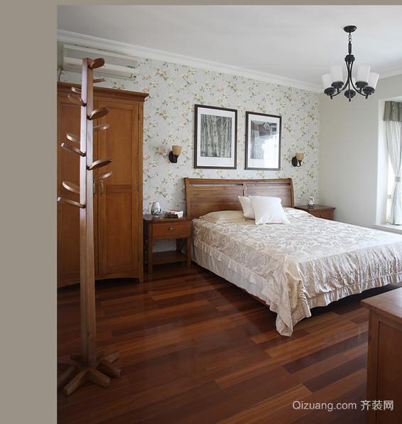 姿意映然的木色卧室背景墙装修效果图鉴赏