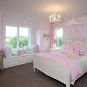 粉色甜美卧室飘窗