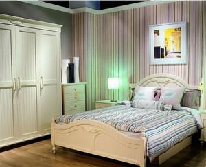 2015韩式卧室壁纸装修效果图