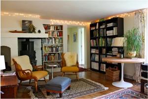 2015美式乡村书柜装修效果图