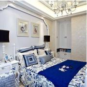蓝色浪漫的卧室展示