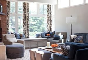 2015单身公寓吸引人的现代客厅飘窗装修效果图