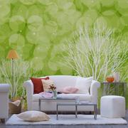 绿色客厅背景墙