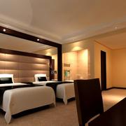 宾馆卧室双人床欣赏