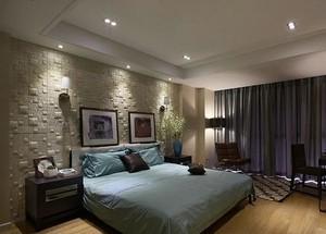 清新淡雅30平米卧室液体壁纸装修效果图