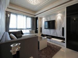 90平米简约大气的后现代风格客厅装修效果图