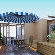 精致的露台花园装修效果图