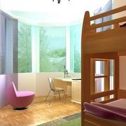 暖色调的家居儿童房