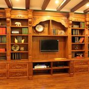 美式实木简约书柜