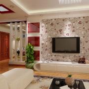 欧式客厅电视背景墙效果图