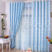 客厅天蓝色纱帘