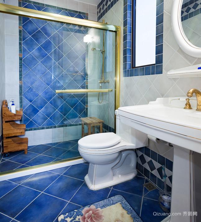 地中海风格蓝色卫生间设计装修效果图鉴赏