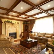 客厅生态木吊顶图片