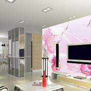 粉色可爱的电视墙