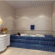 卫生间蓝色瓷砖展示