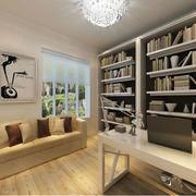 现代简约书房书柜