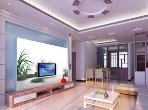 现代小家庭客厅电视墙