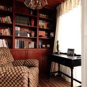 简约书房实木书柜展示