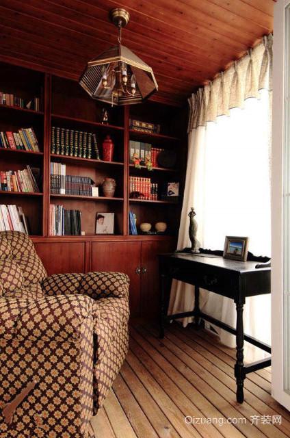 北欧简约风格小书房装修效果图