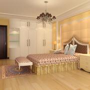 橙色系的家居卧室
