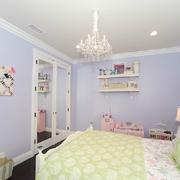 紫色浪漫房屋卧室