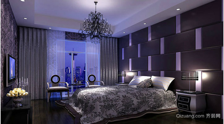 2015地中海卧室壁纸装修效果图
