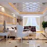 客厅玻璃吊顶展示