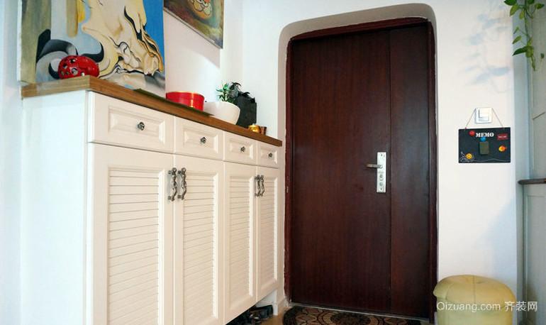 美式乡村130平米家庭鞋柜装修效果图