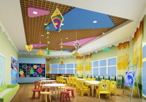 幼儿园精致吊顶装潢