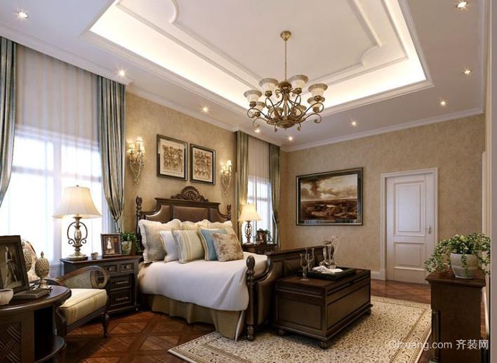 美式别墅窗帘装修效果图