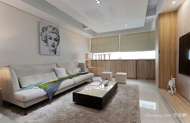 76平米超现代水银灰色客厅装修效果图鉴赏