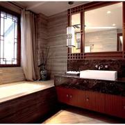 卫生间中式窗户欣赏