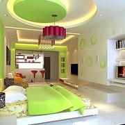 绿色时尚公寓卧室